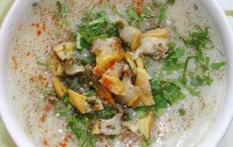 Nấu ăn món ngon mỗi ngày với Hành khô, Cách nấu cháo trai 3