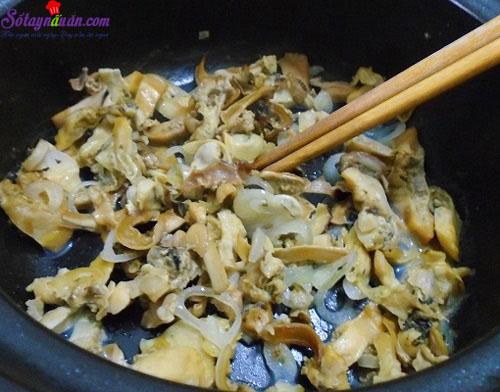 Cách nấu cháo trai 2