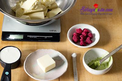 Hướng dẫn làm matcha truffle siêu hấp dẫn nguyên liệu