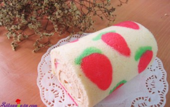 Món khai vị, hướng dẫn làm bánh bông lan cuộn màu sắc 11