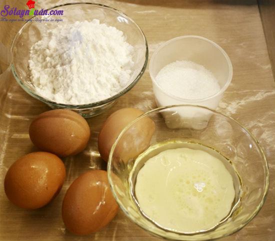 hướng dẫn làm bánh bông lan cuộn màu sắc 1
