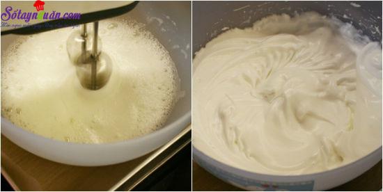 hướng dẫn làm bánh bông lan cuộn màu sắc 4