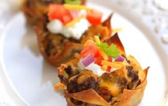 Những món ăn vặt, cách làm cupcake taco 3