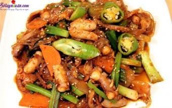 Nấu ăn món ngon mỗi ngày với Tỏi băm, cách làm bạch tuộc xào cay kiểu hàn 8