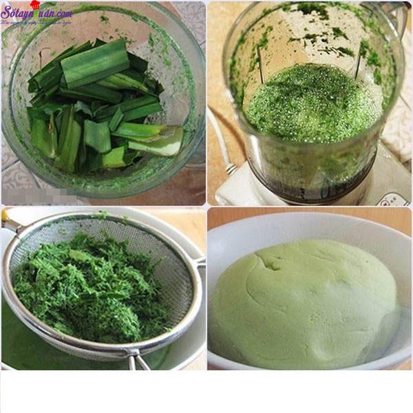 cách làm bánh trôi nước lá dứa 2