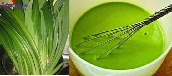 cách làm bánh trôi nước lá dứa 1