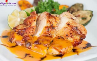 Nấu ăn món ngon mỗi ngày với Thịt gà, cách làm gà sốt chanh dây 4