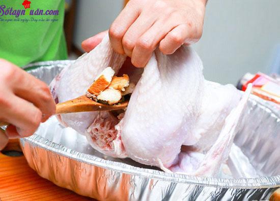 cách làm gà nướng nhồi thập cẩm 9
