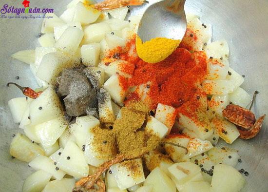 hướng dẫn làm khoai tây cay 5