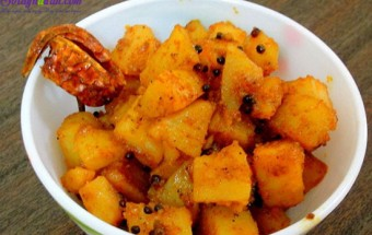 Nấu ăn món ngon mỗi ngày với Bột nghệ, hướng dẫn làm khoai tây cay 7