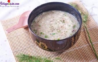 Nấu ăn món ngon mỗi ngày với Hành khô, cách nấu cháo chim bồ câu 3