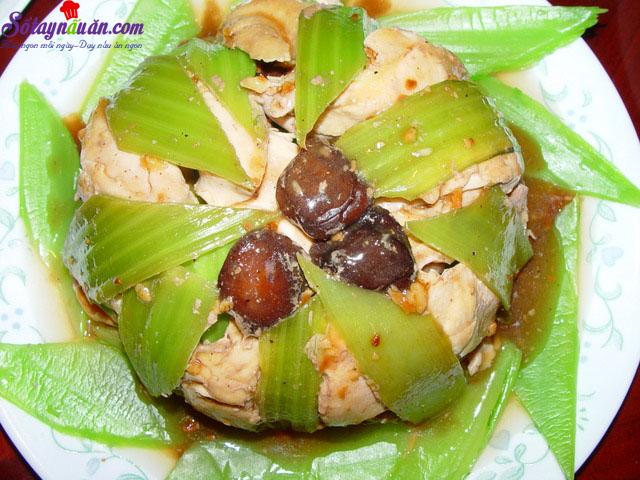 Công thức cho món gà hấp cải bẹ xanh ngon đúng điệu kết quả