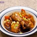 nấm hương, cách làm đùi gà om cay 9