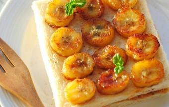 Làm đồ ăn sáng, cách làm bánh mì kẹp chuối chiên 7