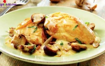 Nấu ăn món ngon mỗi ngày với Khoai tây, cách làm sườn sốt kem nấm 4