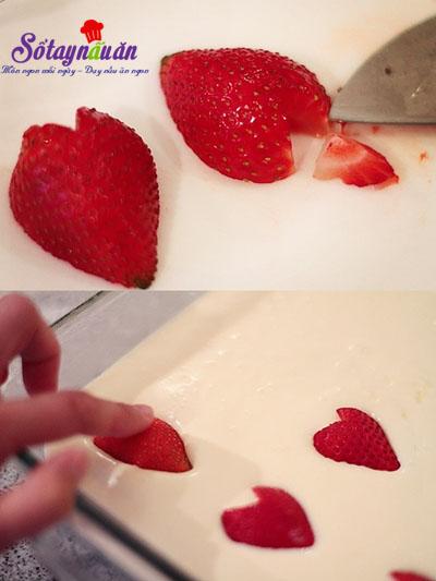Cách làm cheesecake thạch trái tim tặng người thương 10