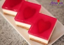 Cách làm cheesecake thạch trái tim tặng người thương