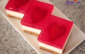Tự làm thạch, Cách làm cheesecake thạch trái tim tặng người thương kết quả