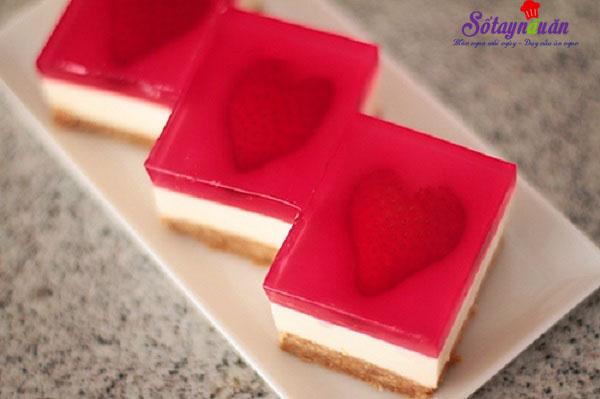 Cách làm cheesecake thạch trái tim tặng người thương kết quả