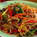 hướng dẫn làm miến xào lươn, hướng dẫn làm miến xào thịt bò rau củ 6