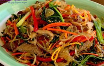 Nấu ăn món ngon mỗi ngày với Nấm hương, hướng dẫn làm miến xào thịt bò rau củ 6