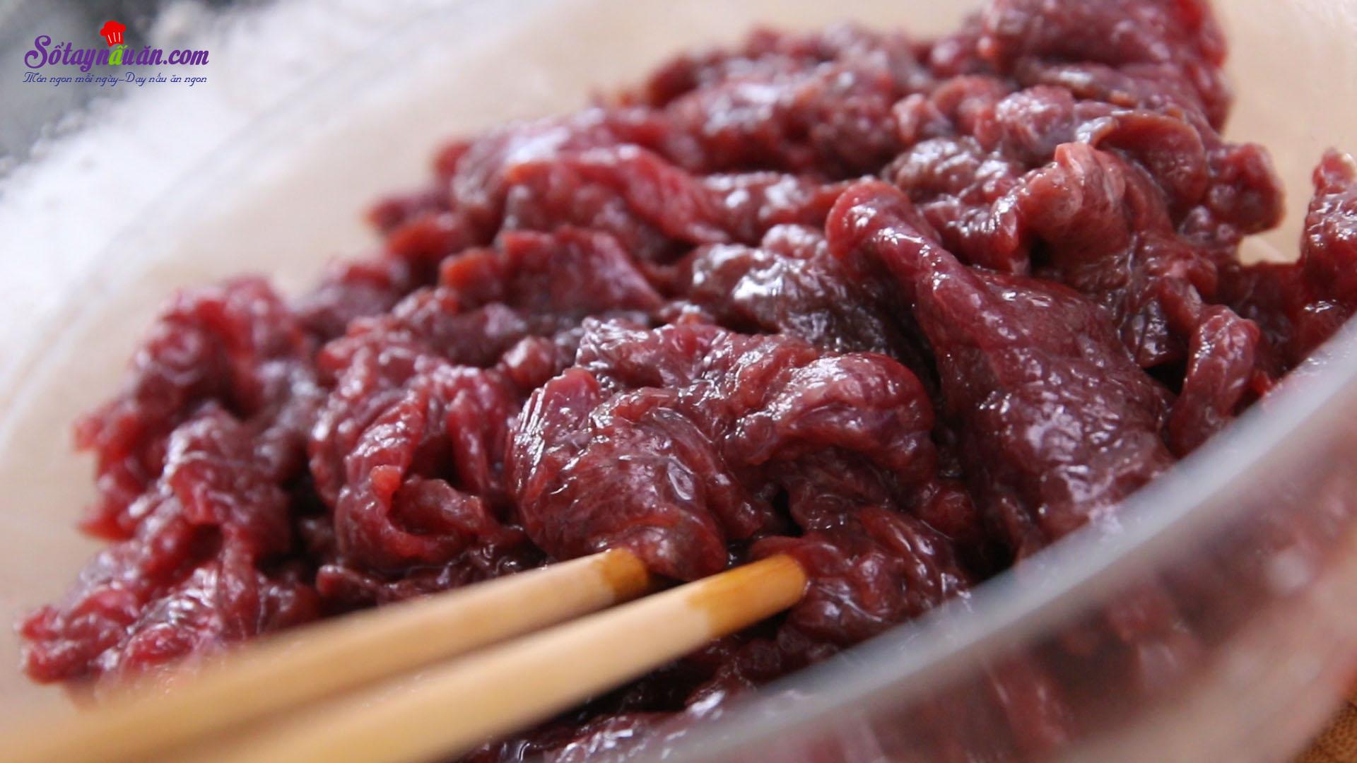 cách làm thịt bò xào mướp đắng 5