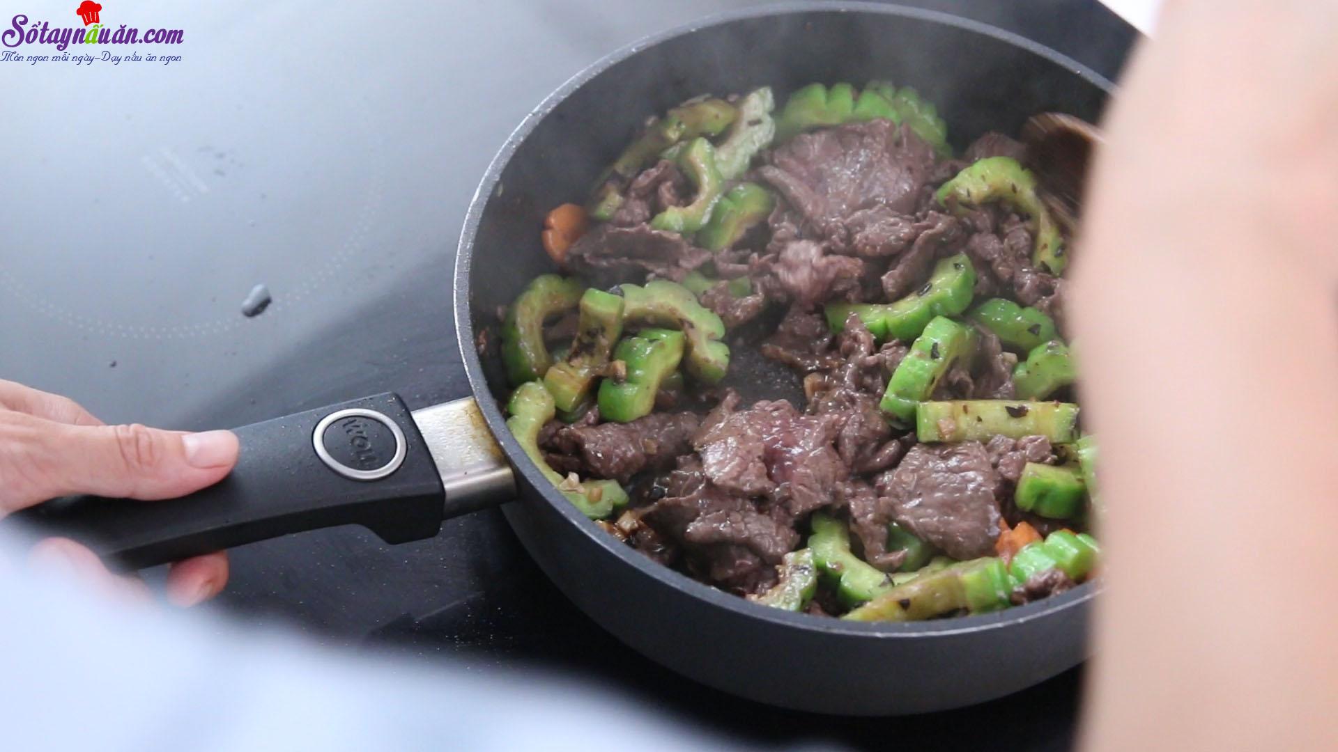 cách làm thịt bò xào mướp đắng 10
