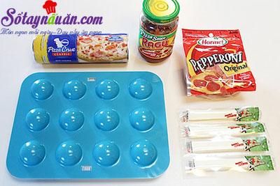 Cách làm pizza calzone mini nhỏ nhắn tuyệt ngon nguyên liệu