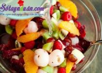 Cách làm thạch hạnh nhân trộn hoa quả ngon mê mẩn