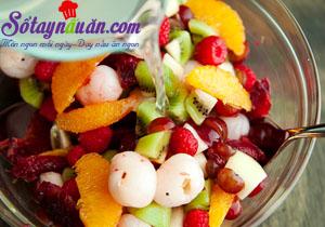 Nấu ăn món ngon mỗi ngày với 2 lít nước, Cách làm thạch hạnh nhân trộn hoa quả ngon mê mẩn 4