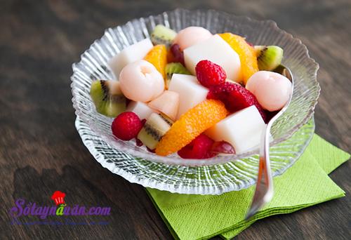 Cách làm thạch hạnh nhân trộn hoa quả ngon mê mẩn kết quả