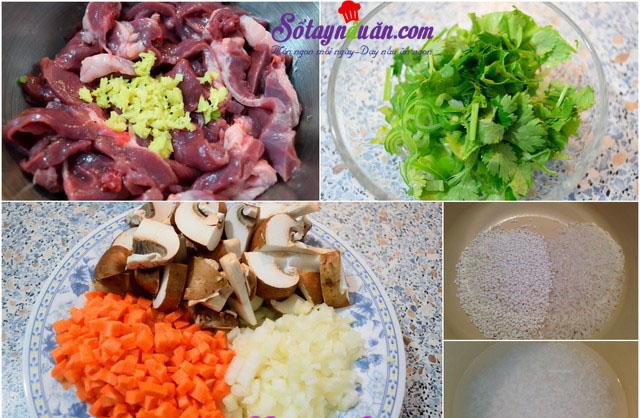 Cách nấu cháo từ tim heo thơm ngon bổ dưỡng 2