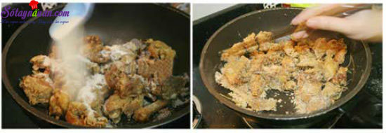 cách làm thịt gà rang muối 9