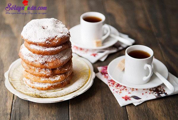 Công thức cho món bánh táo donut ngon mê ly kết quả