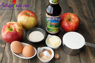 Công thức cho món bánh táo donut ngon mê ly nguyên liệu