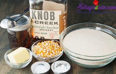 Bắp rang bơ caramel tự làm cực dễ cực ngon nguyên liệu