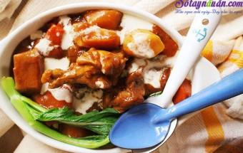 Món kho, Cách làm gà cà ri với kem lạ miệng mà tuyệt ngon kết quả
