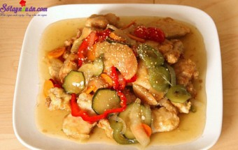 Nấu ăn món ngon mỗi ngày với Tỏi băm, cách làm thịt chua ngọt kiểu Hàn 15