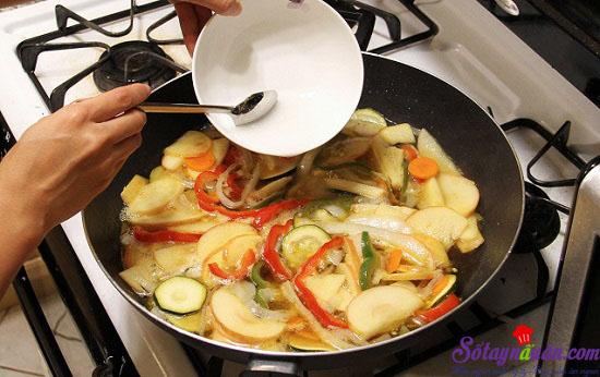 cách làm thịt chua ngọt kiểu Hàn 8