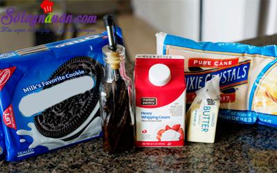 Hướng dẫn làm kem bánh quy ngọt ngào cho người ấy nguyên liệu