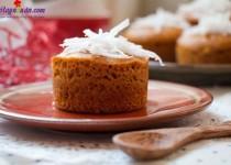 Hướng dẫn làm bánh bông lan caramel dừa không cần lò nướng