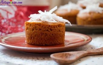 các món bánh, cahcs làm bánh bông lan caramel dừa 9