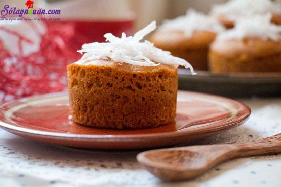cahcs làm bánh bông lan caramel dừa 9