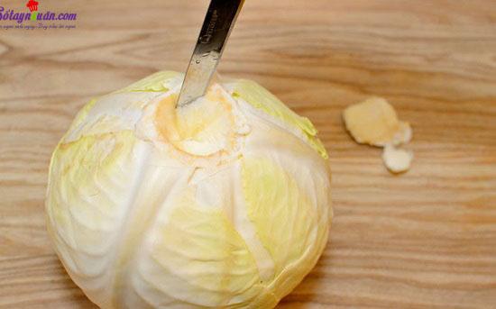 cách làm bắp cải cuộn thịt nướng 1