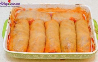 Nấu ăn món ngon mỗi ngày với Chanh, cách làm báp cải cuộn thịt nướng 13