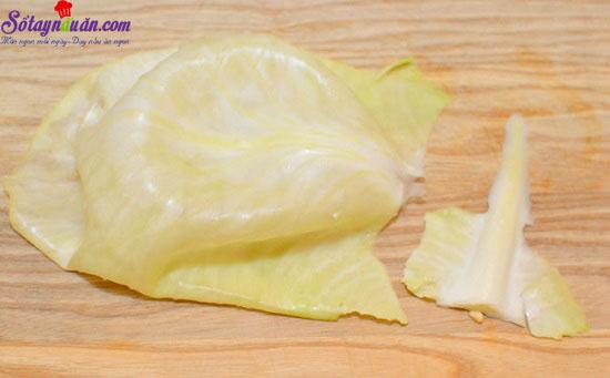 cách làm bắp cải cuộn thịt nướng 5