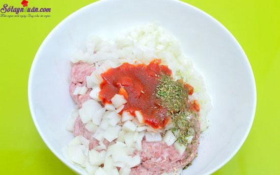 cách làm báp cải cuộn thịt nướng 7