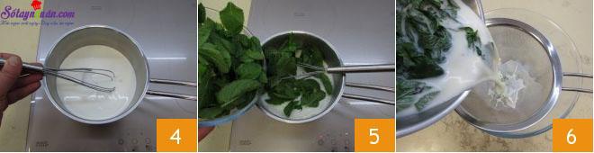 cách làm kem bạc hà socola 2