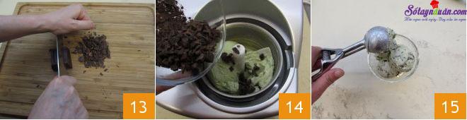 cách làm kem bạc hà socola 5