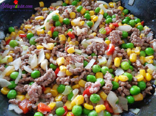 hướng dẫn làm khoai tây chiên bọc rau củ 11